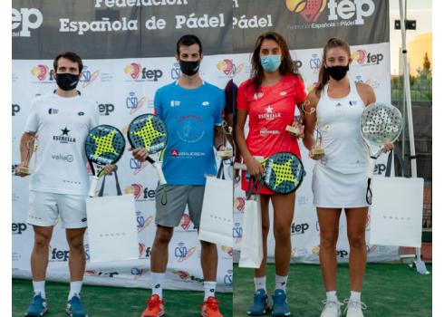 Lucas Bergamini y Jerónimo González en masculino y Beatriz González y Marta Ortega en Femenino se proclamaron nuevos Campeones.