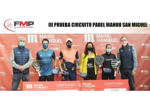 III Prueba circuito Padel Mahou San Miguel